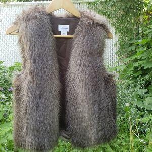 Club Monaco Faux Fur Open Vest